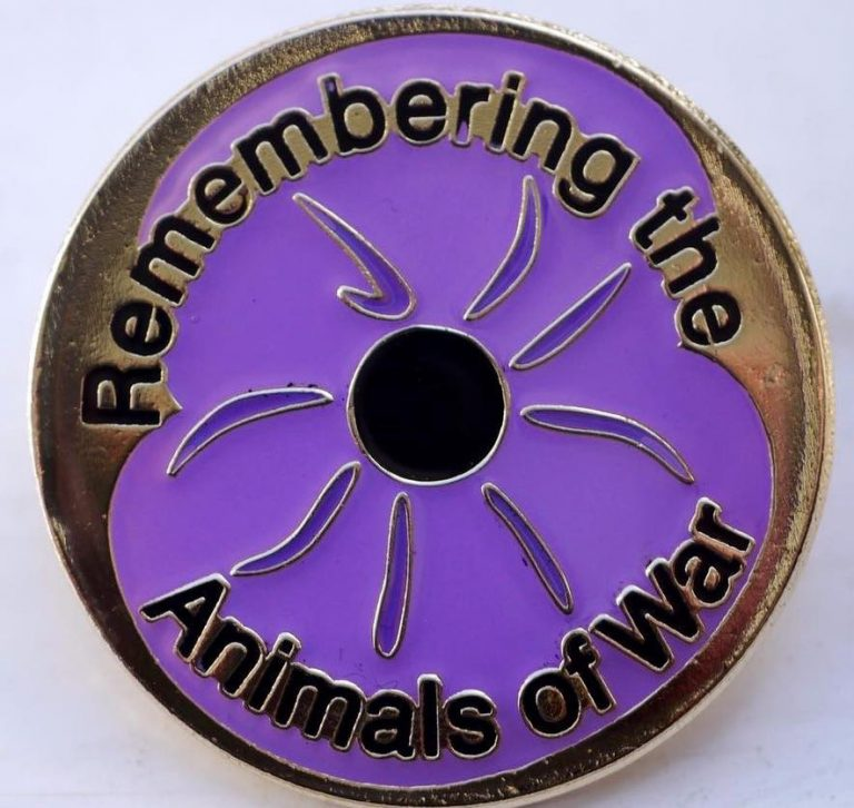 THE PURPLE POPPY – remembering the dogs, and other animal victims of war